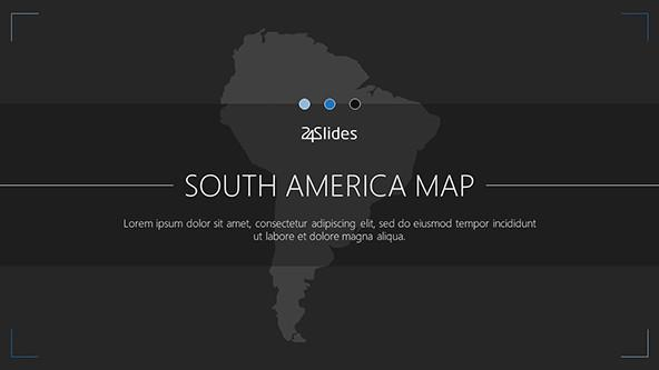 South America Map welcome slide