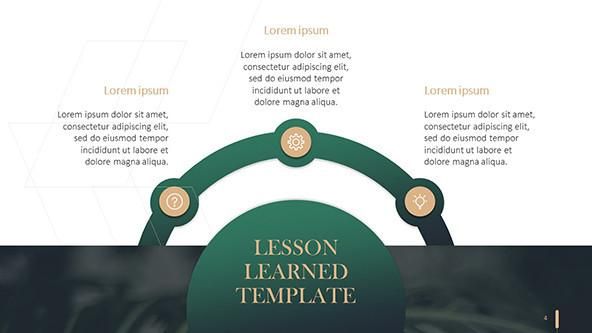 FREE Lessons Learned Powerpoint Template PowerPoint Template