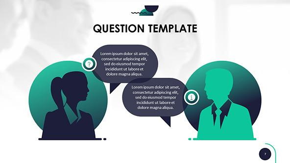 Question and answer in a Conversation graphic